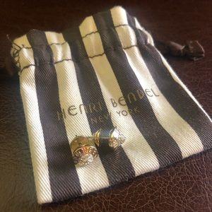 Henri Bendel Gold Pave Stud Earrings